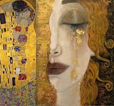 Klimt Kiss visage